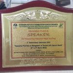 Appreciation Award Speaker Ashtavakra Institute Rehabilitation Sciemces Research